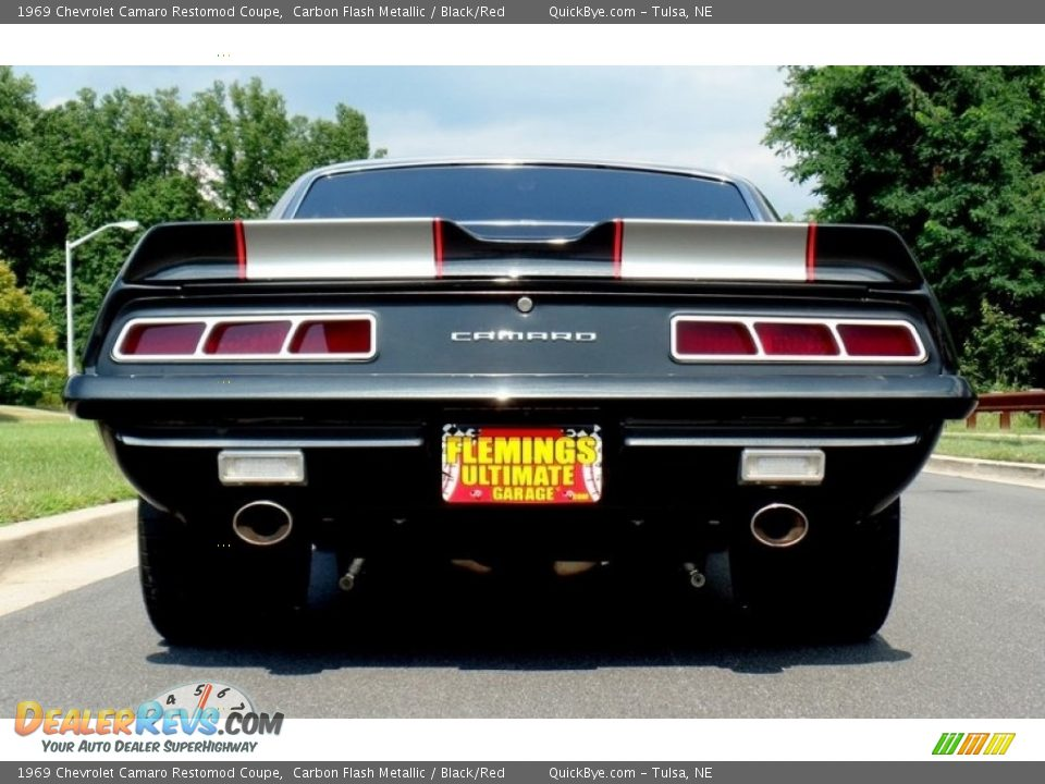 1969 Chevrolet Camaro Restomod Coupe Carbon Flash Metallic / Black/Red Photo #4
