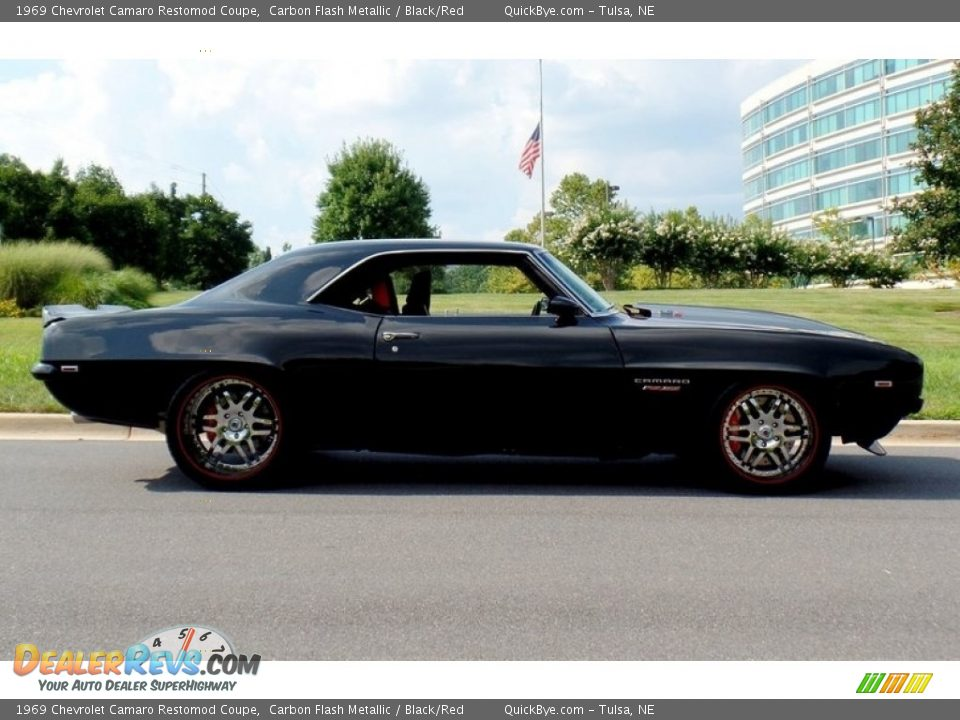 1969 Chevrolet Camaro Restomod Coupe Carbon Flash Metallic / Black/Red Photo #7