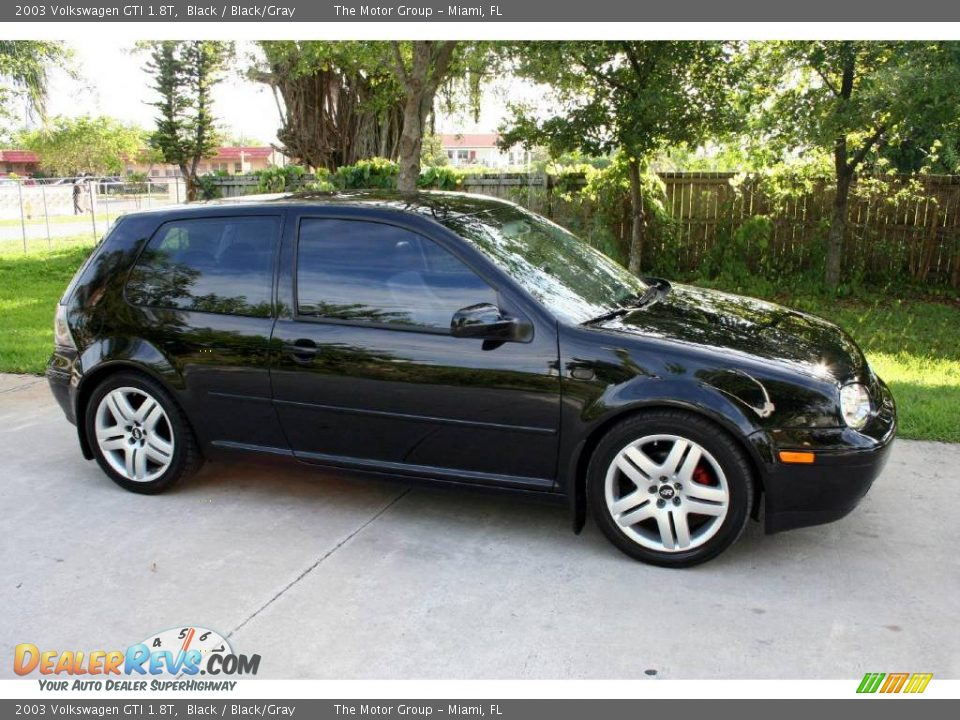 2003 Volkswagen Gti 1 8t Black Black Gray Photo 12
