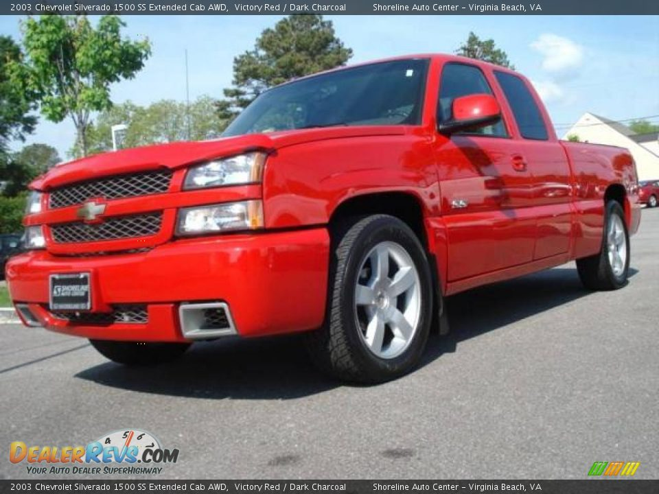 2003 chevrolet silverado 1500 ss extended cab awd victory red dark charcoal photo 1. Black Bedroom Furniture Sets. Home Design Ideas