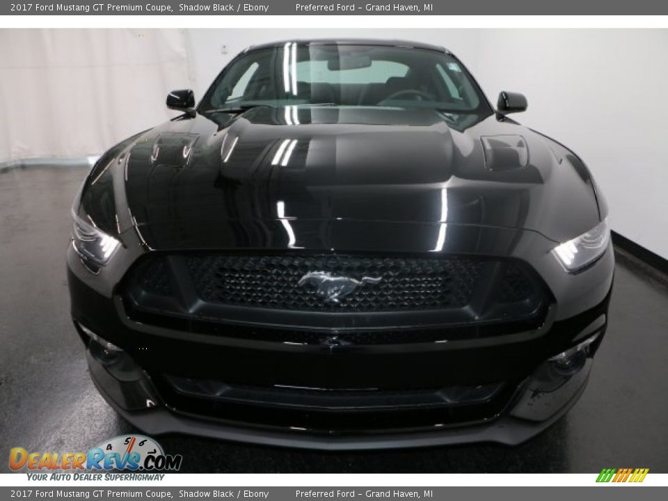 2017 Ford Mustang GT Premium Coupe Shadow Black / Ebony Photo #5