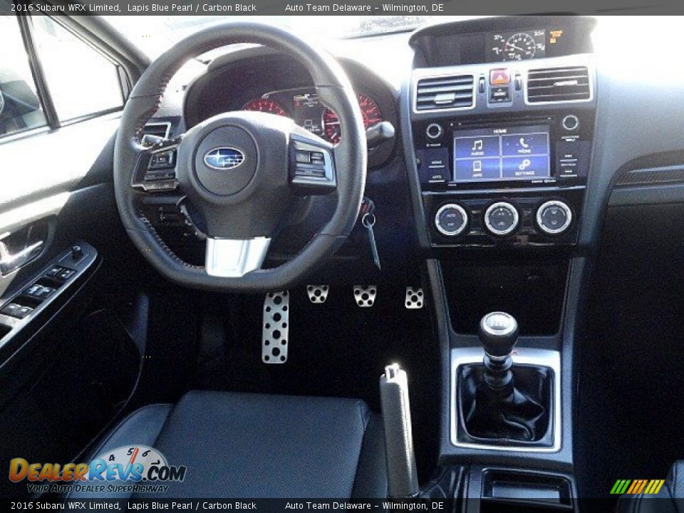 2016 Subaru WRX Limited Lapis Blue Pearl / Carbon Black Photo #12