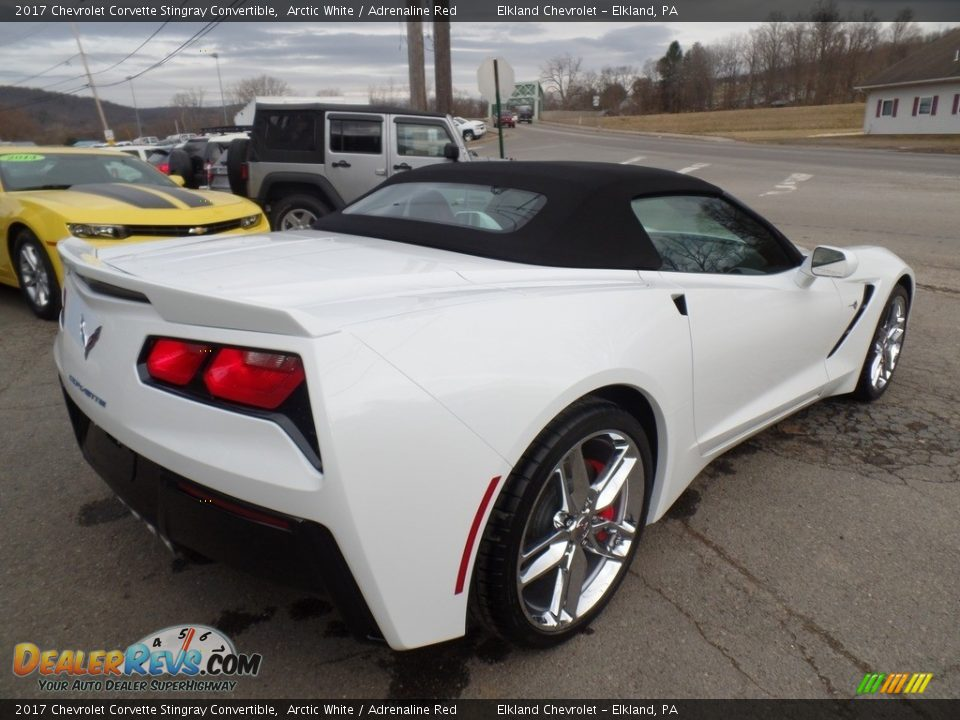 2017 Chevrolet Corvette Stingray Convertible Arctic White / Adrenaline Red Photo #5