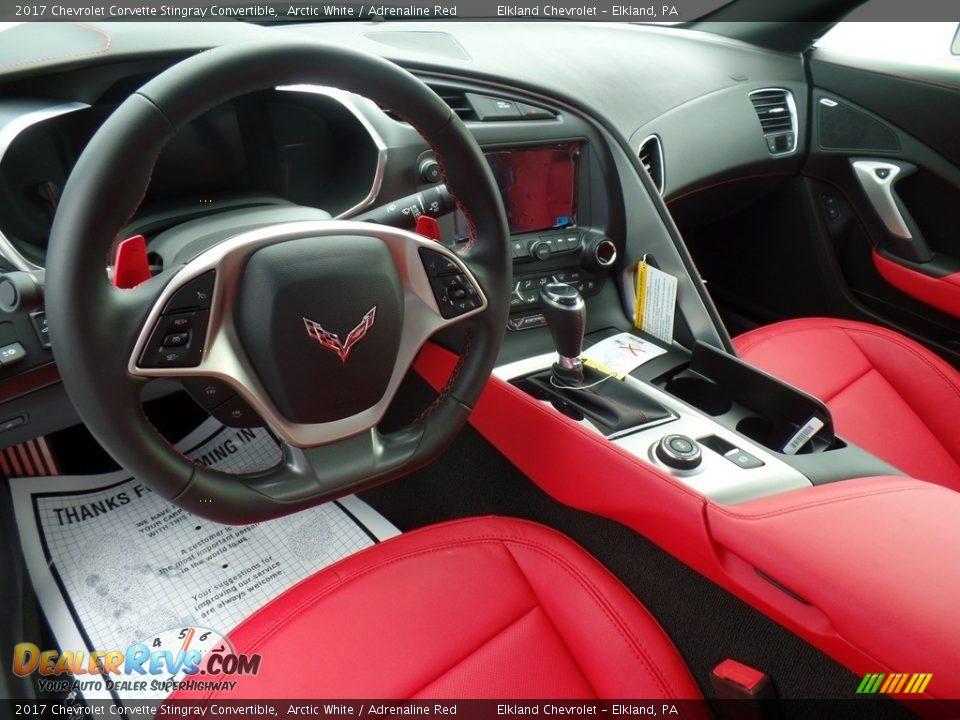 Front Seat of 2017 Chevrolet Corvette Stingray Convertible Photo #14