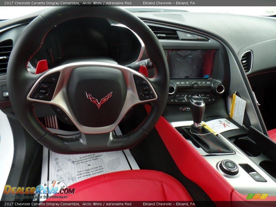 2017 Chevrolet Corvette Stingray Convertible Arctic White / Adrenaline Red Photo #15