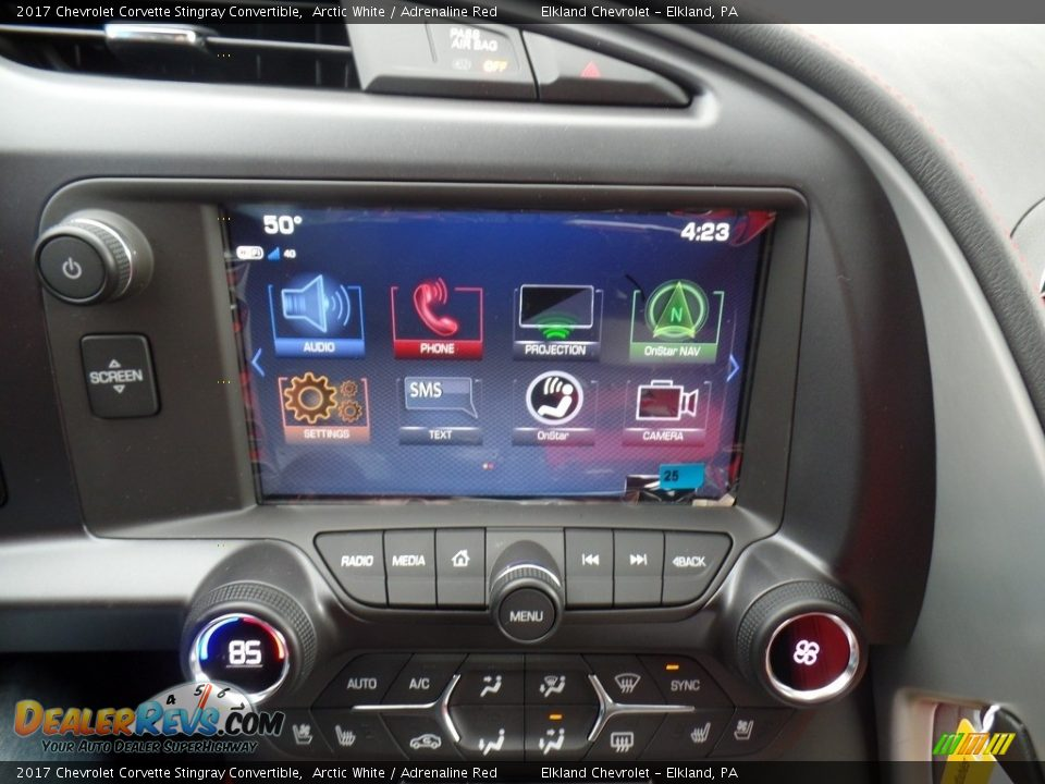 Controls of 2017 Chevrolet Corvette Stingray Convertible Photo #23