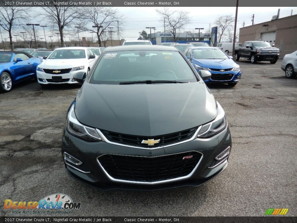 2017 Chevrolet Cruze LT Nightfall Gray Metallic / Jet Black Photo #2