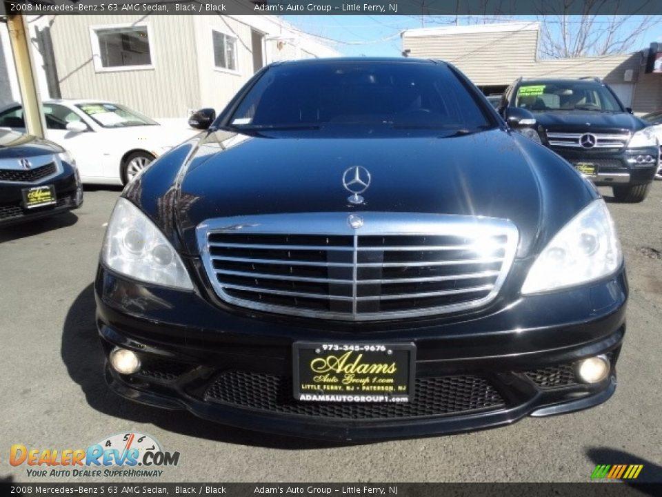 2008 Mercedes-Benz S 63 AMG Sedan Black / Black Photo #2