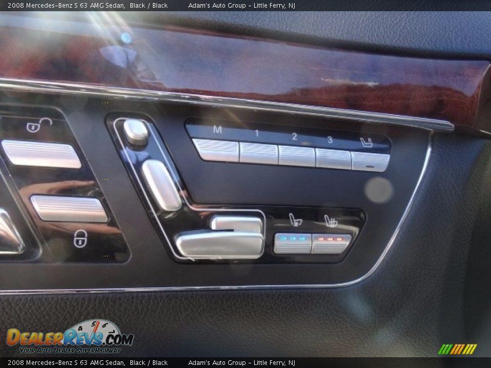 2008 Mercedes-Benz S 63 AMG Sedan Black / Black Photo #14