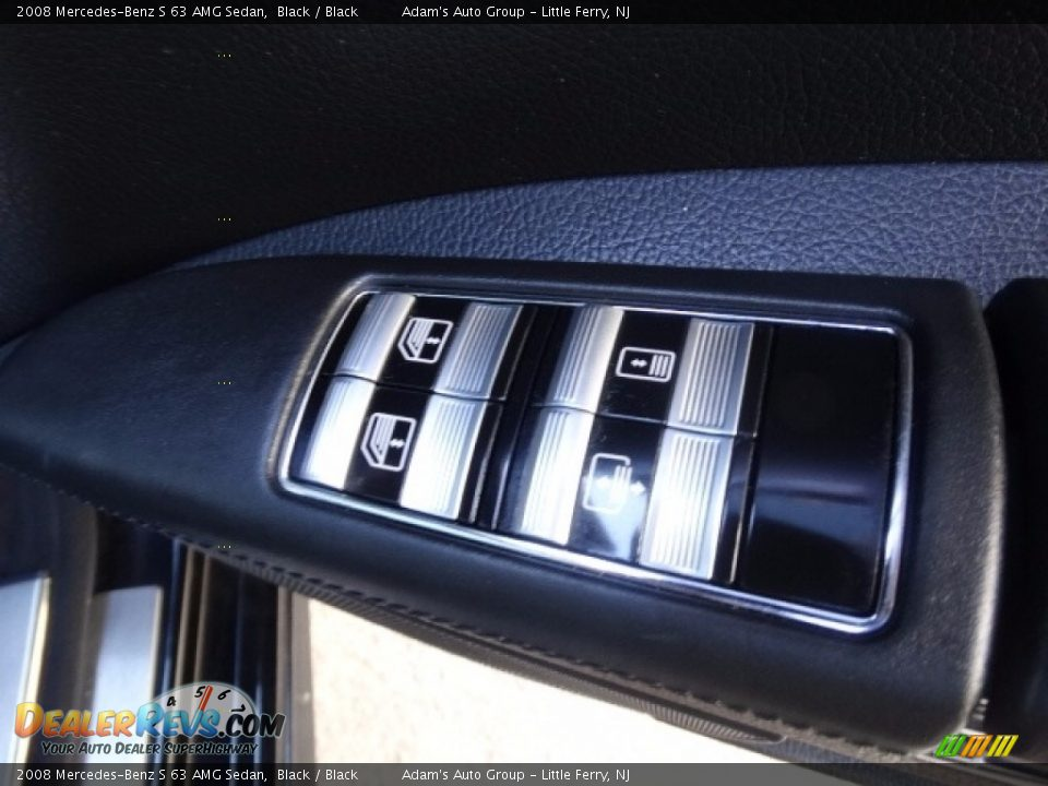 2008 Mercedes-Benz S 63 AMG Sedan Black / Black Photo #36