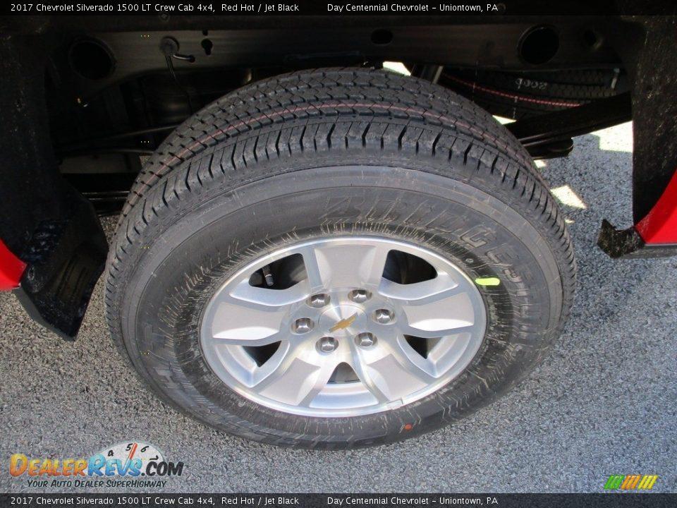 2017 Chevrolet Silverado 1500 LT Crew Cab 4x4 Red Hot / Jet Black Photo #3