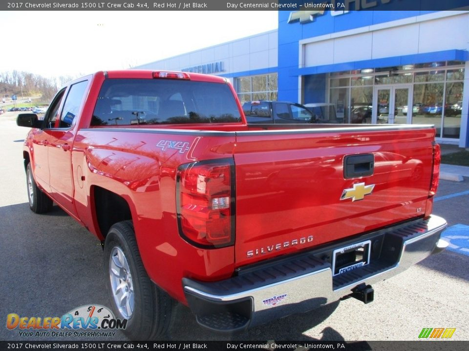 2017 Chevrolet Silverado 1500 LT Crew Cab 4x4 Red Hot / Jet Black Photo #5
