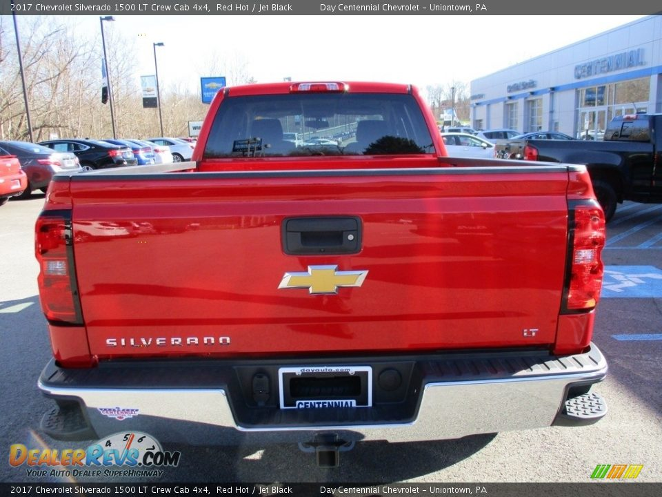 2017 Chevrolet Silverado 1500 LT Crew Cab 4x4 Red Hot / Jet Black Photo #6