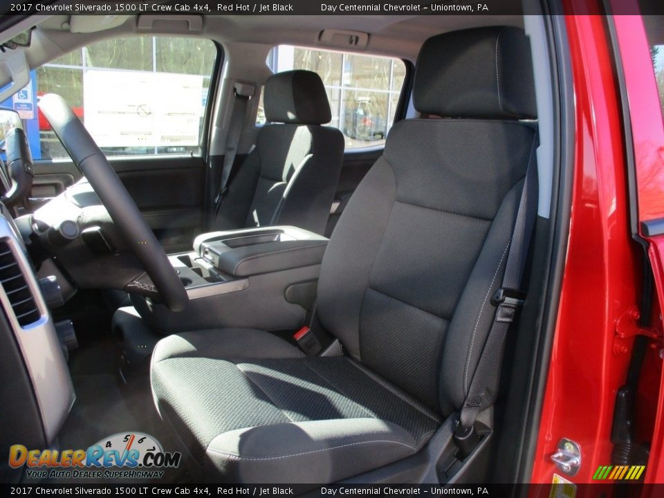 2017 Chevrolet Silverado 1500 LT Crew Cab 4x4 Red Hot / Jet Black Photo #13