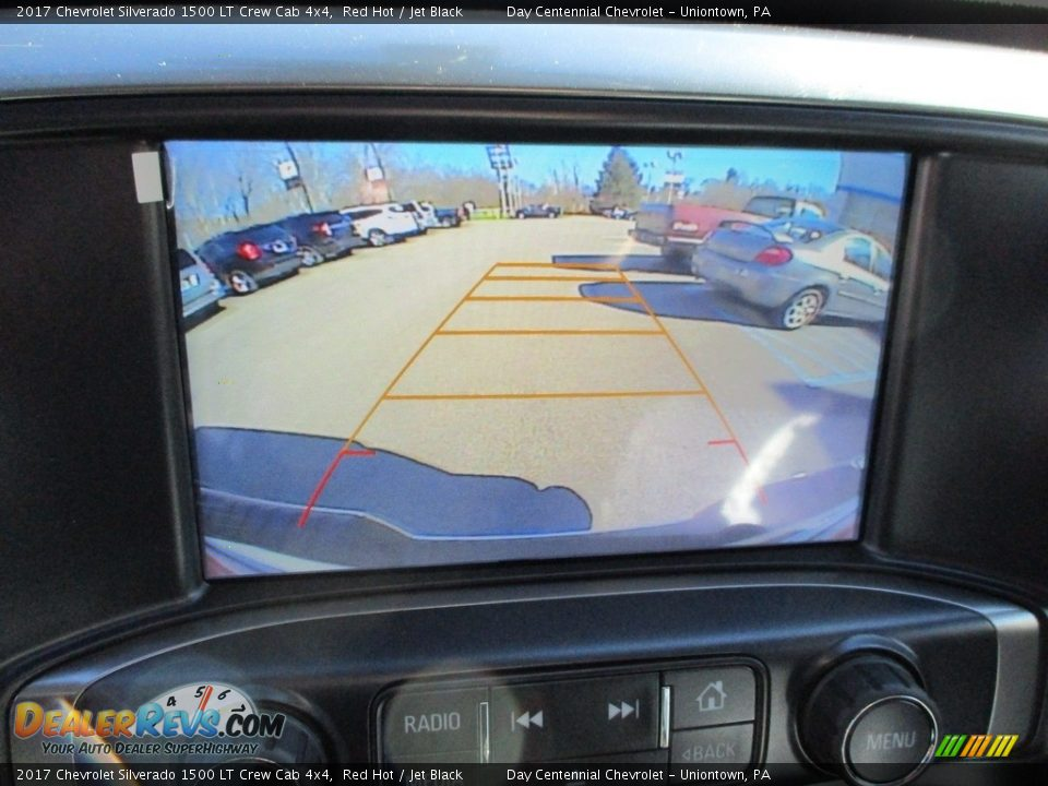 2017 Chevrolet Silverado 1500 LT Crew Cab 4x4 Red Hot / Jet Black Photo #18