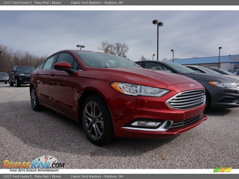 2017 Ford Fusion S Ruby Red / Ebony Photo #1