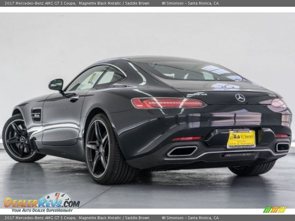 2017 Mercedes-Benz AMG GT S Coupe Magnetite Black Metallic / Saddle Brown Photo #3
