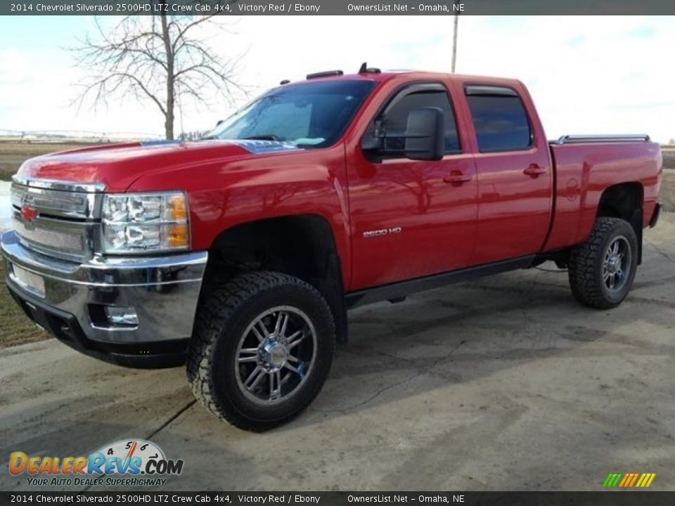 2014 Chevrolet Silverado 2500HD LTZ Crew Cab 4x4 Victory Red / Ebony Photo #1