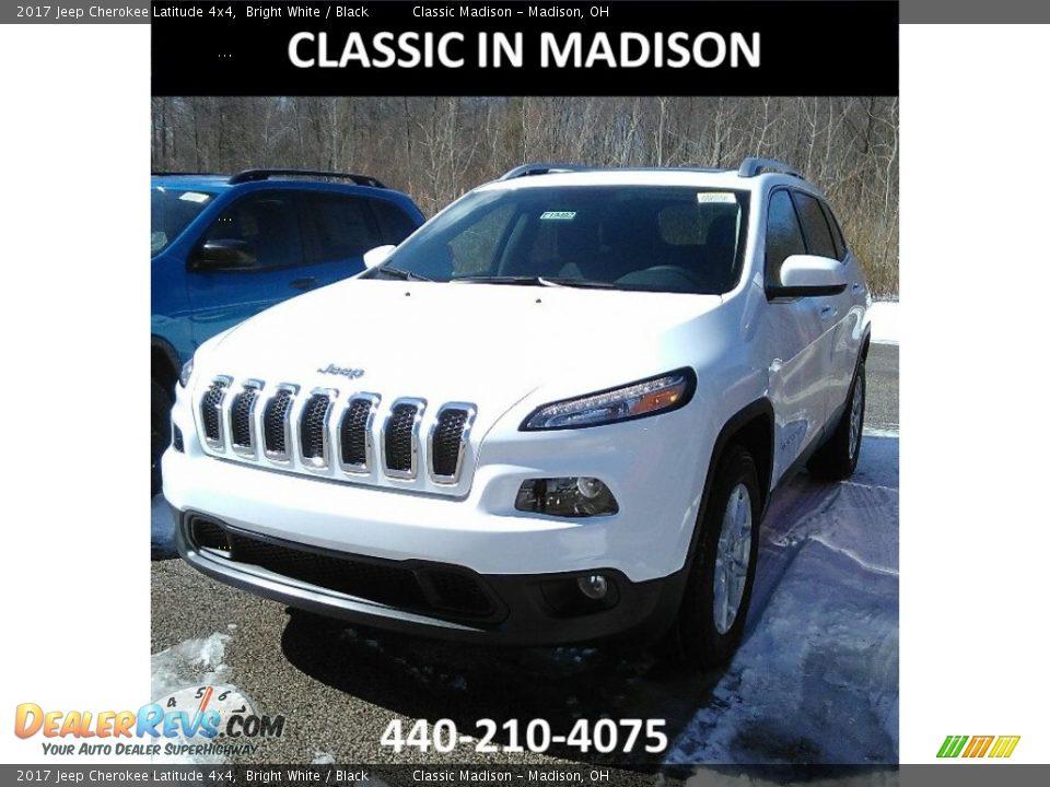 2017 Jeep Cherokee Latitude 4x4 Bright White / Black Photo #1