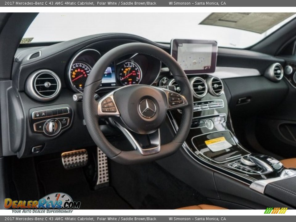Dashboard of 2017 Mercedes-Benz C 43 AMG 4Matic Cabriolet Photo #5