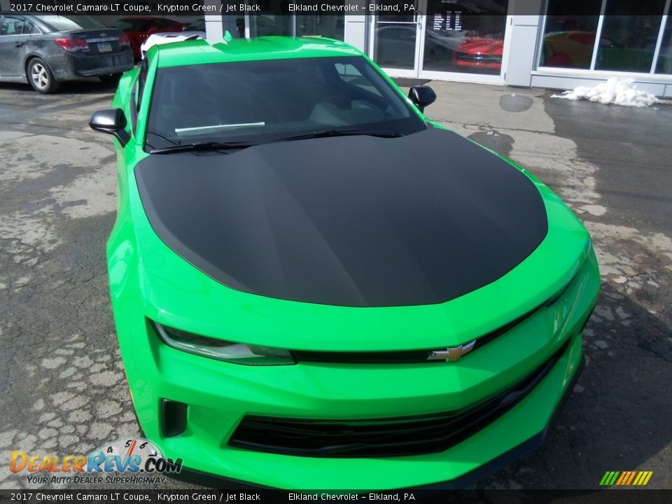2017 Chevrolet Camaro LT Coupe Krypton Green / Jet Black Photo #2