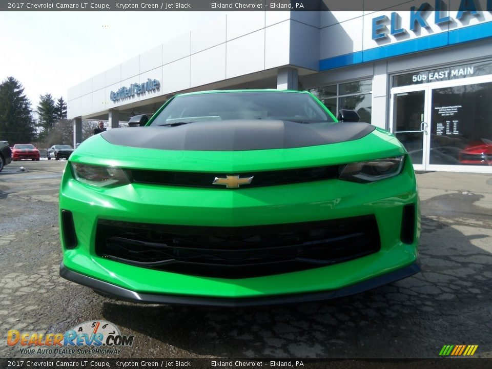 2017 Chevrolet Camaro LT Coupe Krypton Green / Jet Black Photo #3