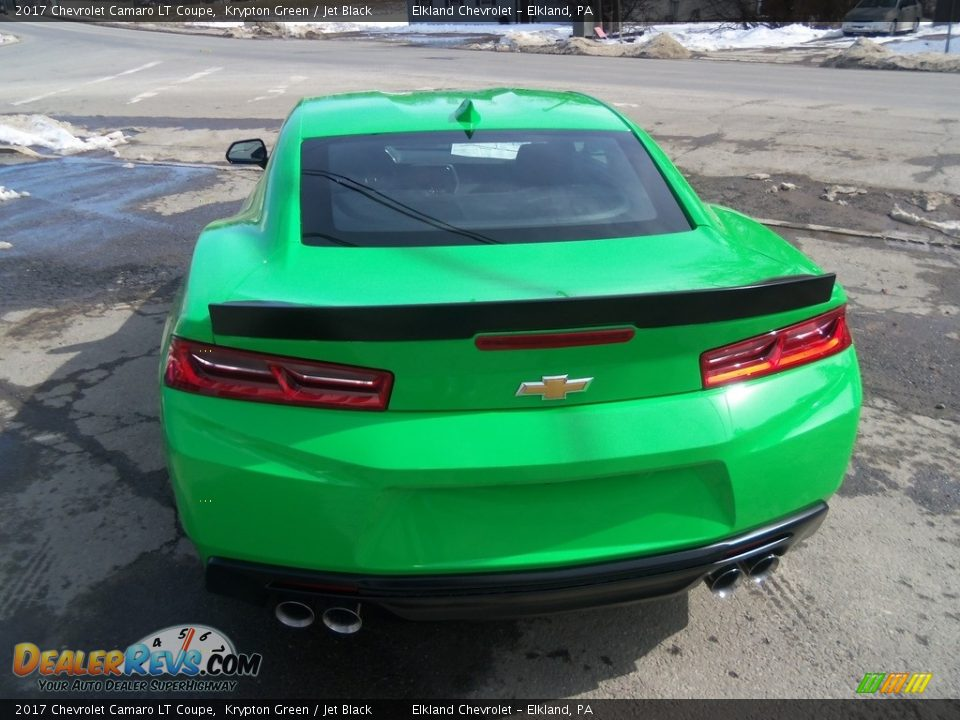 2017 Chevrolet Camaro LT Coupe Krypton Green / Jet Black Photo #7