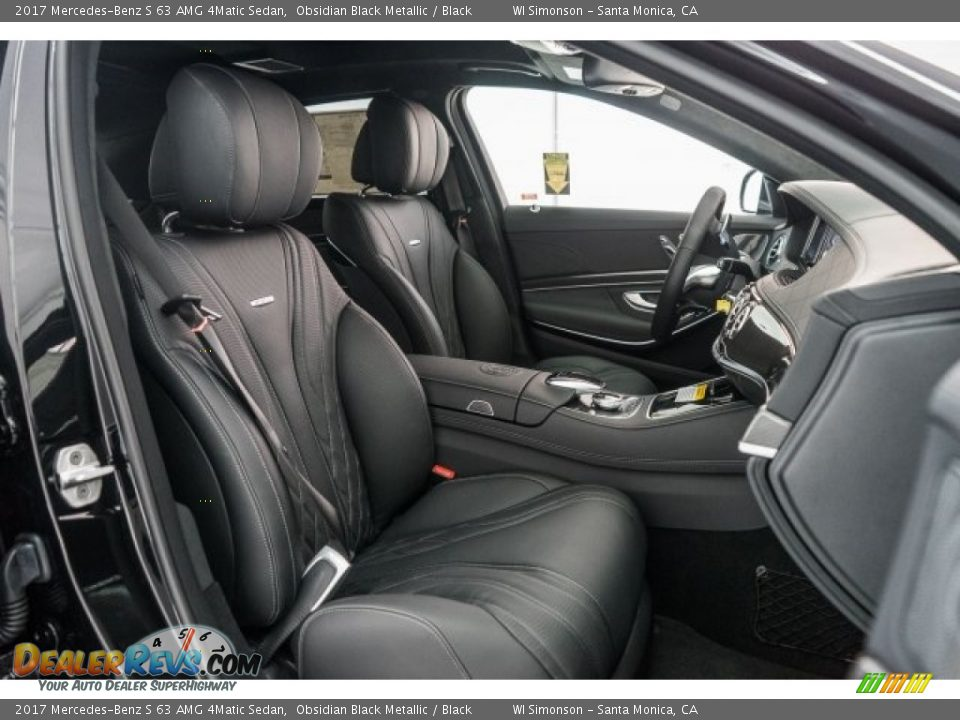 Black Interior - 2017 Mercedes-Benz S 63 AMG 4Matic Sedan Photo #2