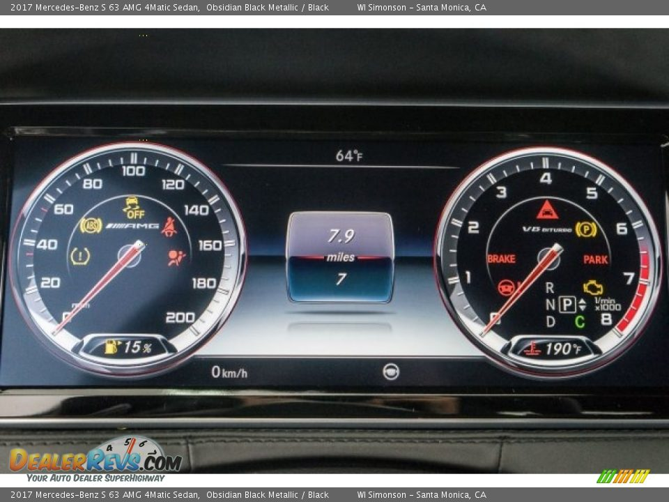 2017 Mercedes-Benz S 63 AMG 4Matic Sedan Gauges Photo #7