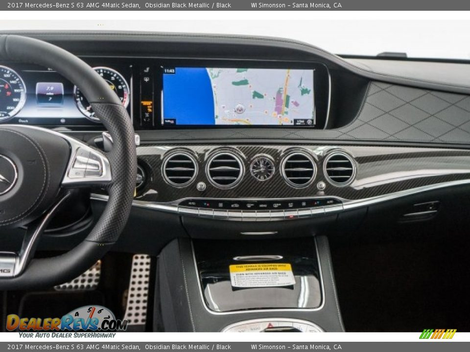 Dashboard of 2017 Mercedes-Benz S 63 AMG 4Matic Sedan Photo #8