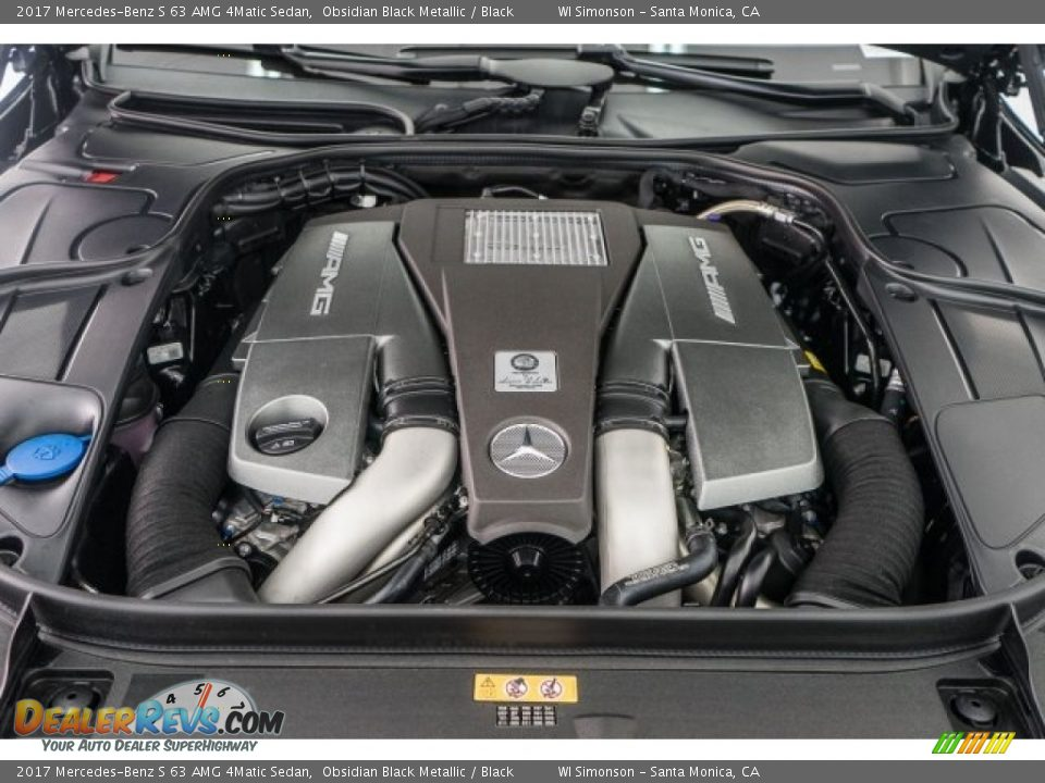 2017 Mercedes-Benz S 63 AMG 4Matic Sedan 5.5 Liter AMG biturbo DOHC 32-Valve VVT V8 Engine Photo #9