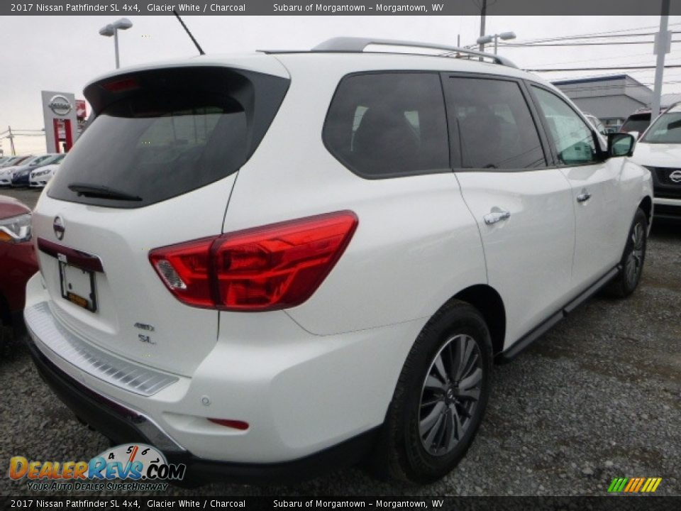 2017 Nissan Pathfinder SL 4x4 Glacier White / Charcoal Photo #8