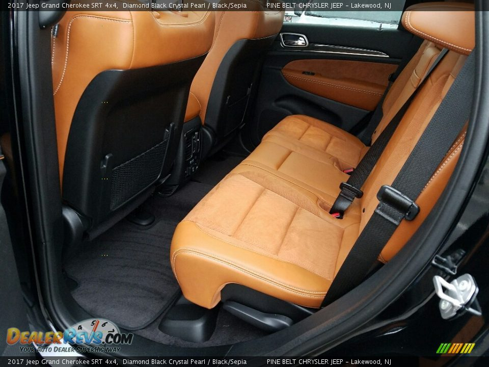 Rear Seat of 2017 Jeep Grand Cherokee SRT 4x4 Photo #8