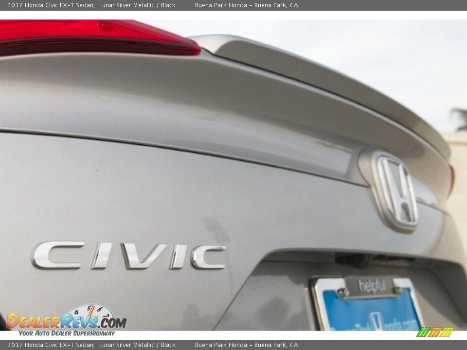 2017 Honda Civic EX-T Sedan Lunar Silver Metallic / Black Photo #3