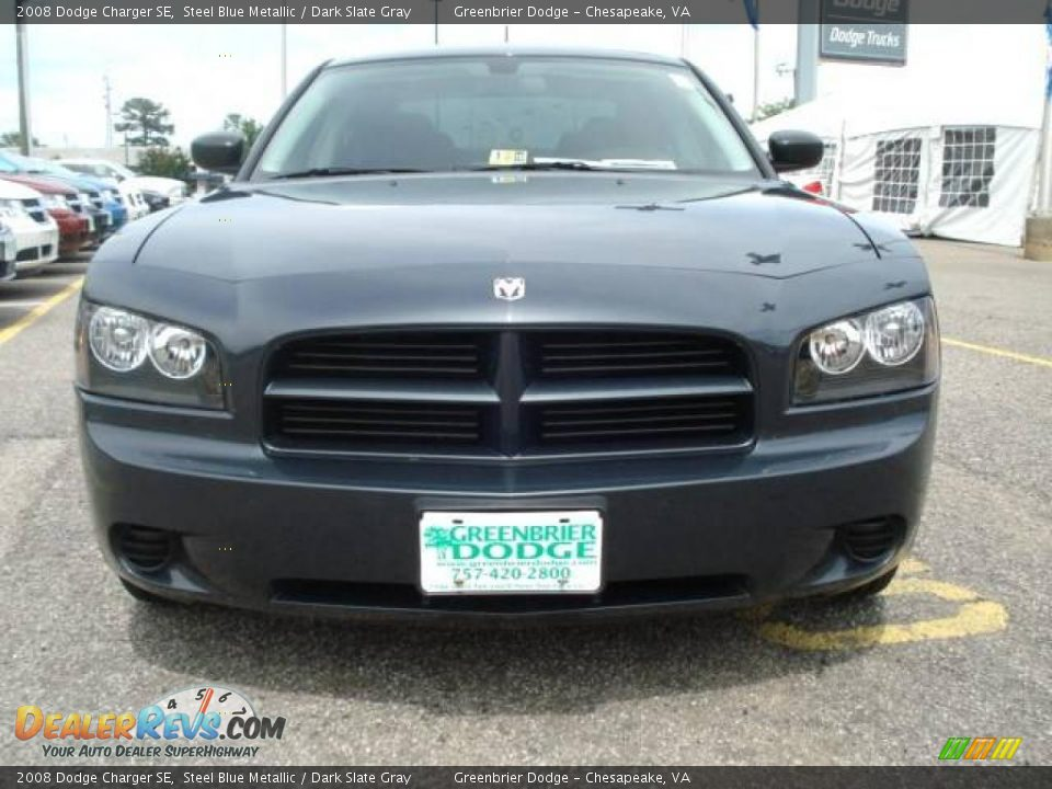 2008 Dodge Charger Se Steel Blue Metallic Dark Slate