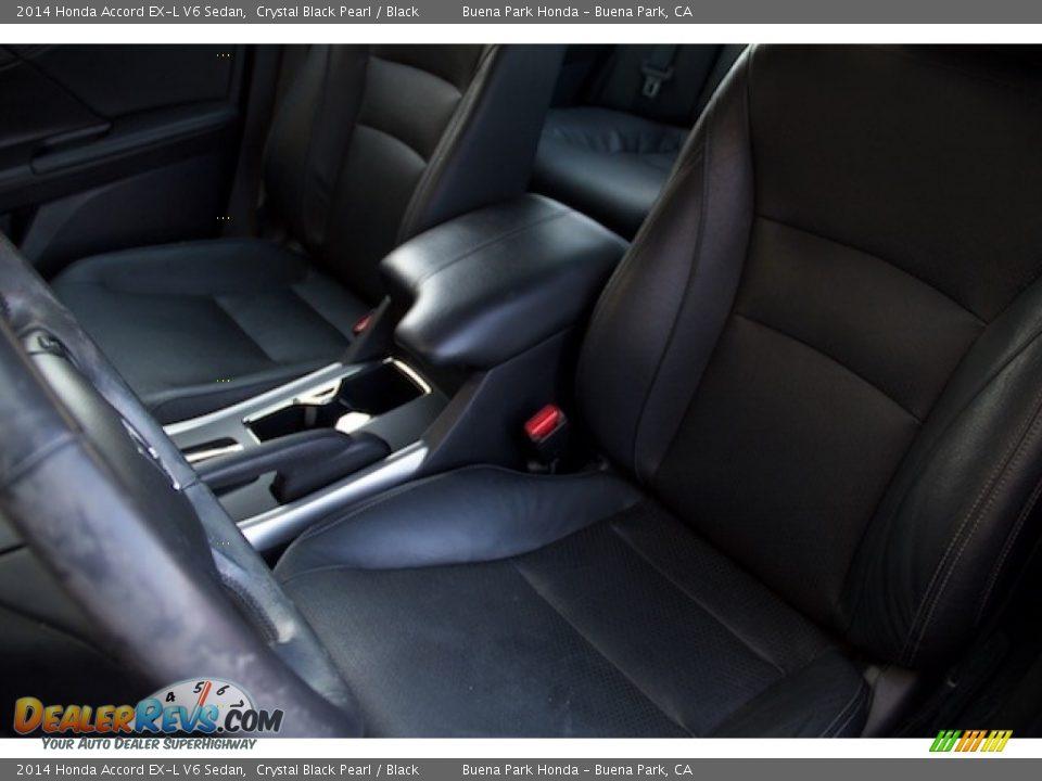 2014 Honda Accord EX-L V6 Sedan Crystal Black Pearl / Black Photo #12