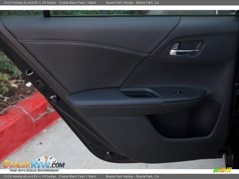 2014 Honda Accord EX-L V6 Sedan Crystal Black Pearl / Black Photo #25