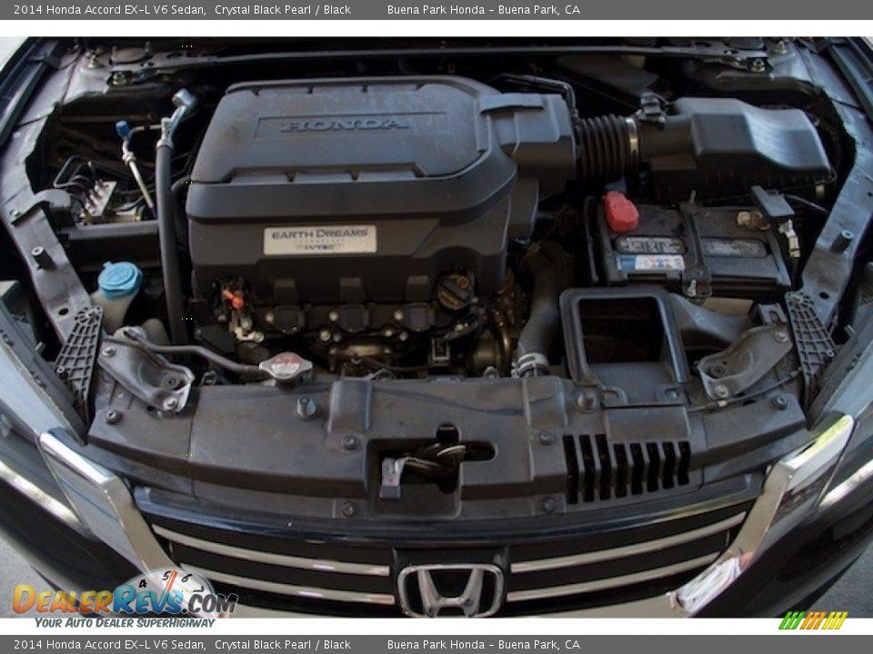 2014 Honda Accord EX-L V6 Sedan Crystal Black Pearl / Black Photo #28