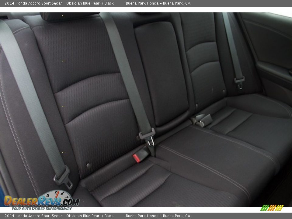2014 Honda Accord Sport Sedan Obsidian Blue Pearl / Black Photo #15