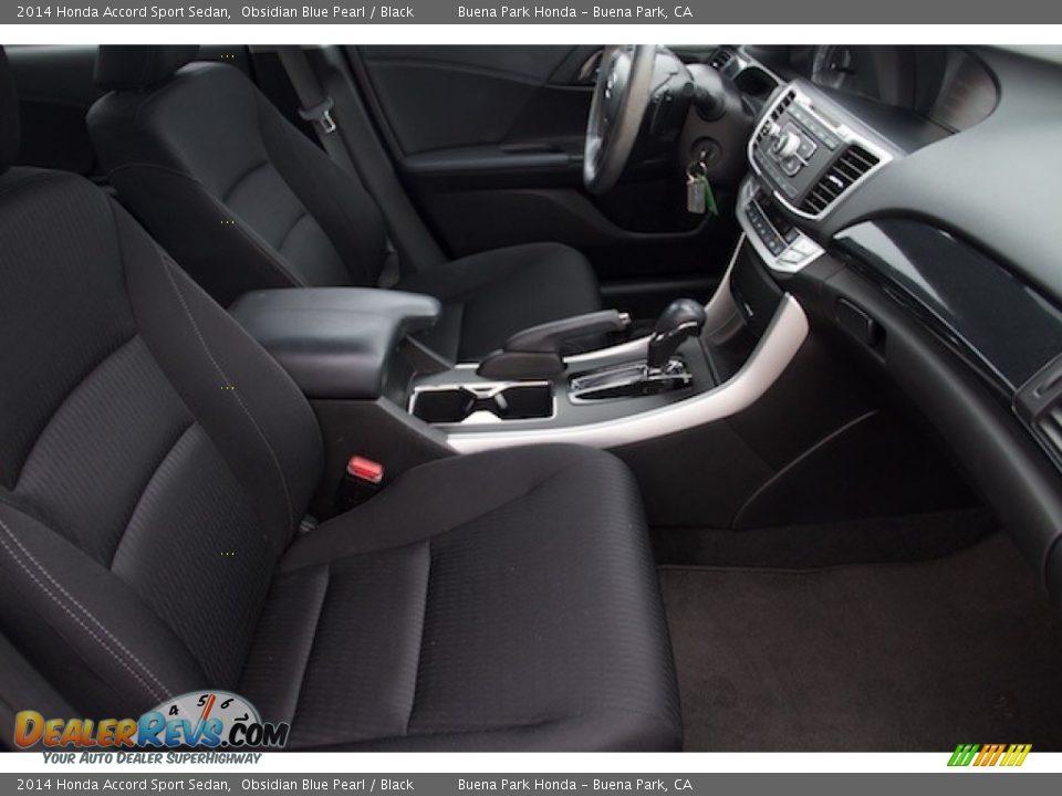 2014 Honda Accord Sport Sedan Obsidian Blue Pearl / Black Photo #16