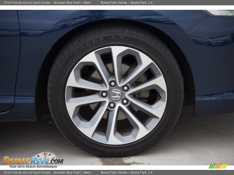 2014 Honda Accord Sport Sedan Obsidian Blue Pearl / Black Photo #26