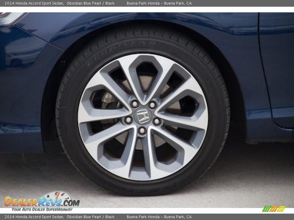 2014 Honda Accord Sport Sedan Obsidian Blue Pearl / Black Photo #28