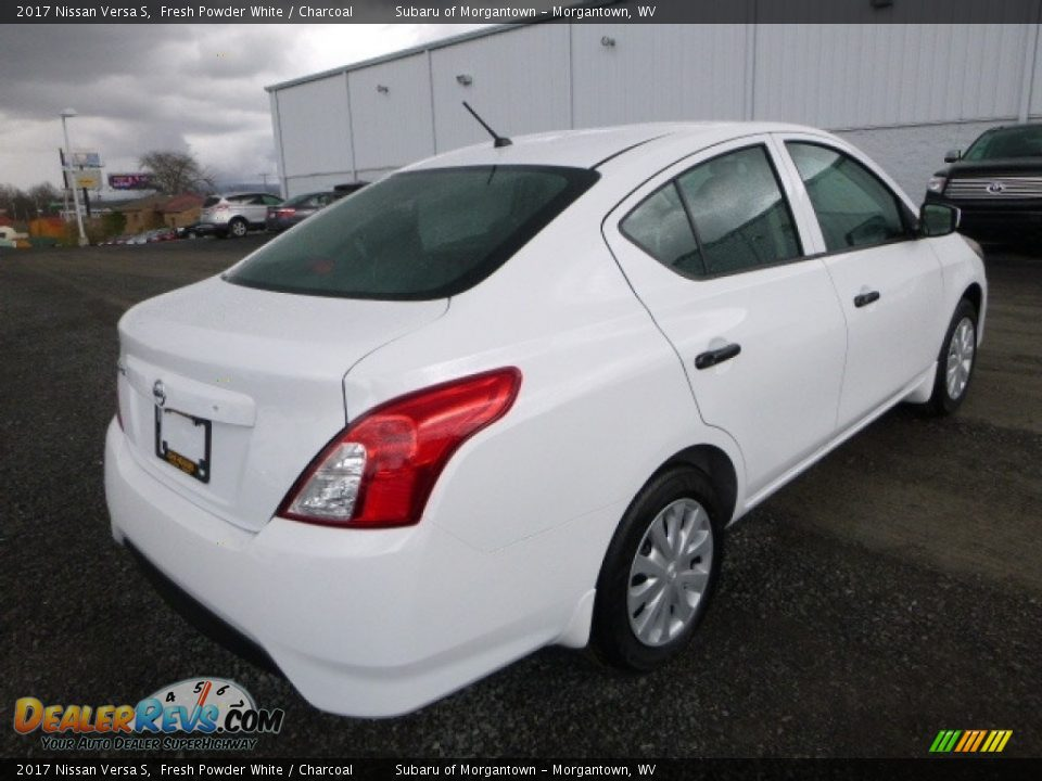 2017 Nissan Versa S Fresh Powder White / Charcoal Photo #9