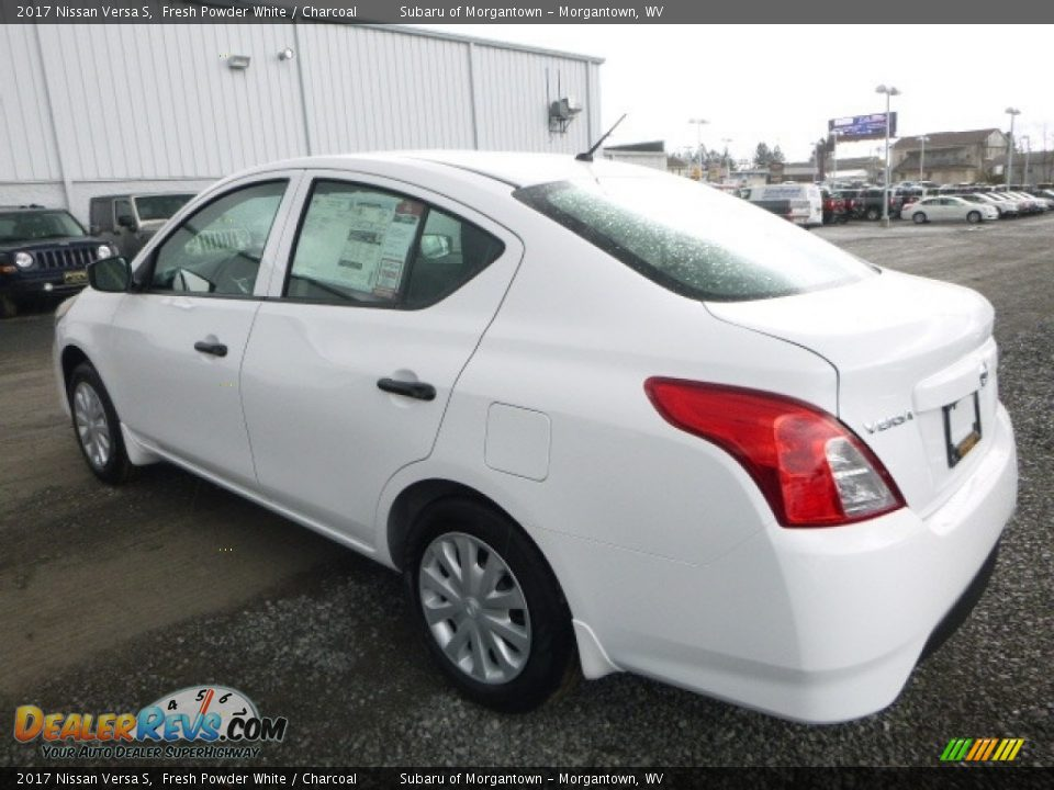 2017 Nissan Versa S Fresh Powder White / Charcoal Photo #11