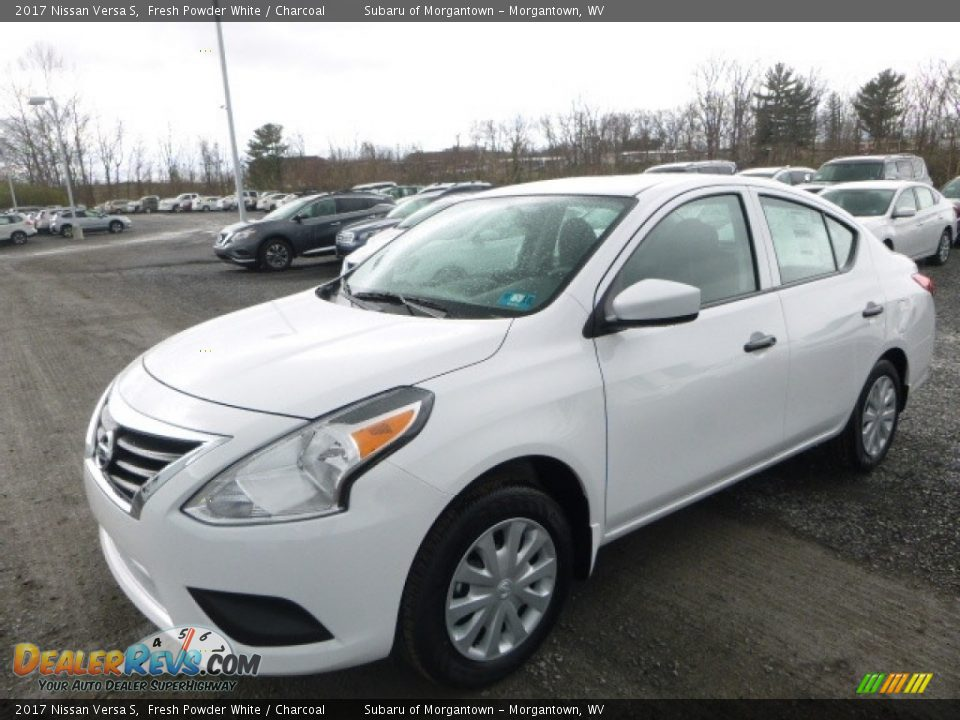 2017 Nissan Versa S Fresh Powder White / Charcoal Photo #13