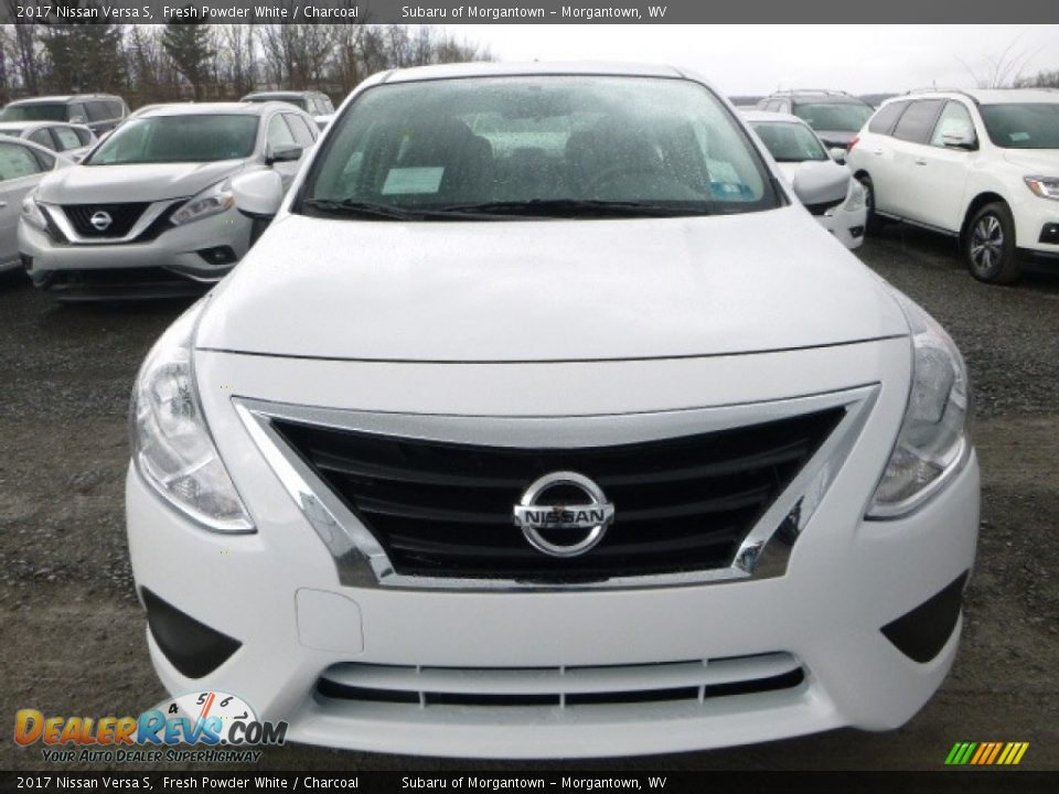 2017 Nissan Versa S Fresh Powder White / Charcoal Photo #14