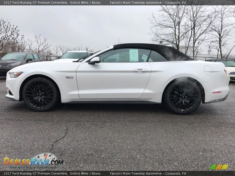 2017 Ford Mustang GT Premium Convertible Oxford White / Ebony Photo #1