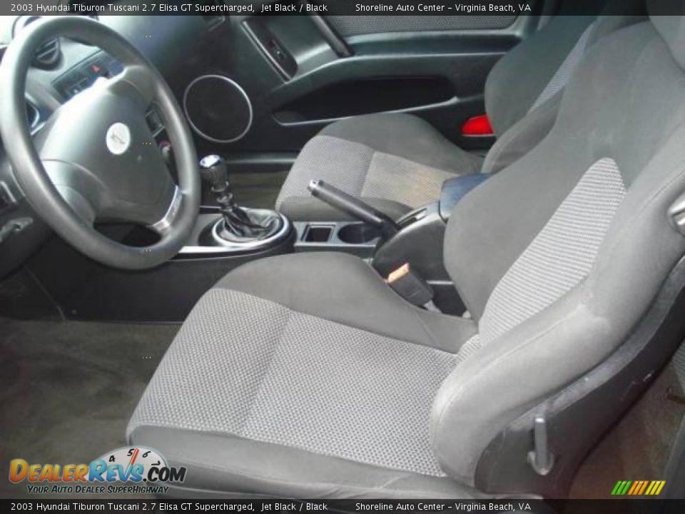 Black Interior 2003 Hyundai Tiburon Tuscani 2 7 Elisa Gt Supercharged Photo 7