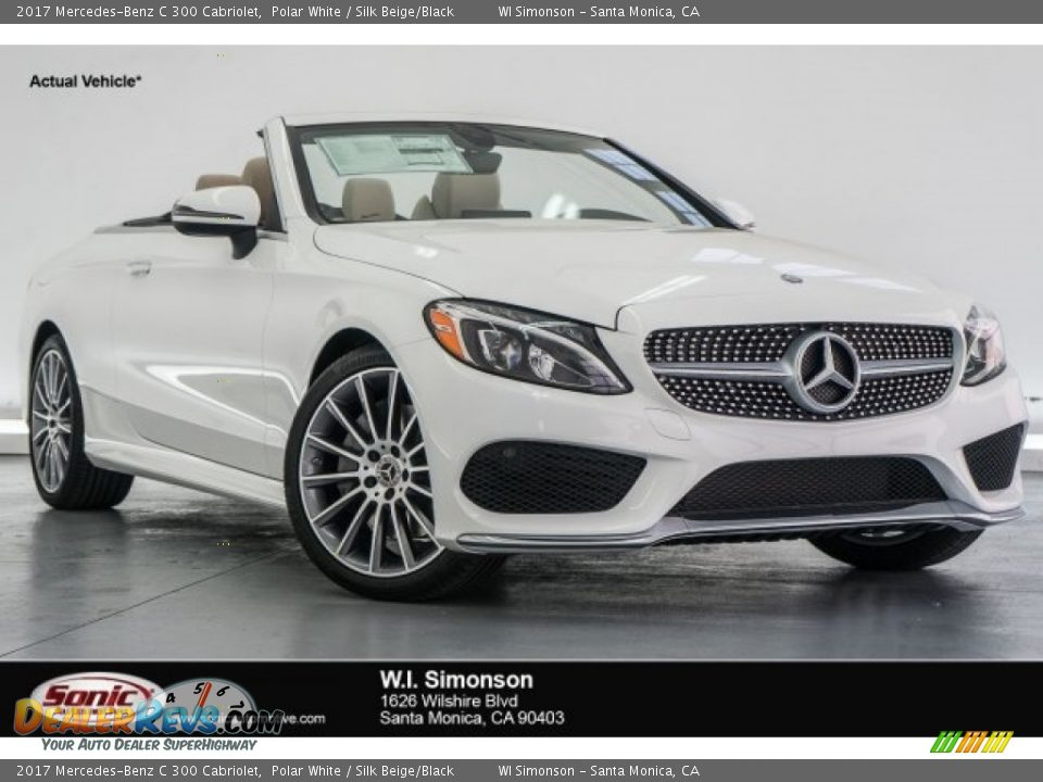 2017 Mercedes-Benz C 300 Cabriolet Polar White / Silk Beige/Black Photo #1