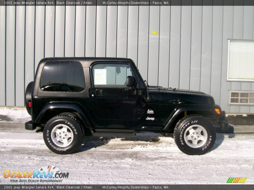2003 jeep wrangler sahara 4x4 black clearcoat khaki. Black Bedroom Furniture Sets. Home Design Ideas